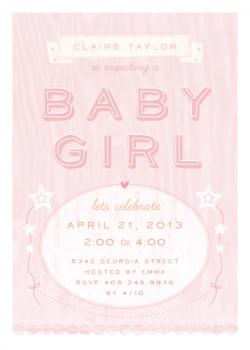 Sugary Sweet Baby Shower Invitations