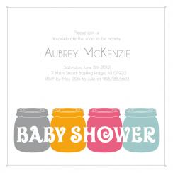 Baby  Food Baby Shower Invitations