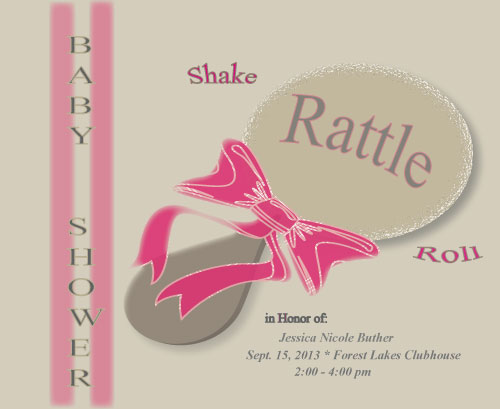 baby shower invitations - Shake Rattle & Roll by Kori Woodring