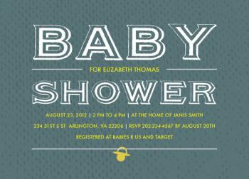 Baby Typography Baby Shower Invitations