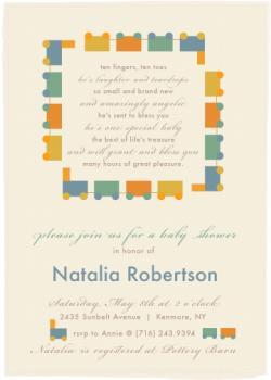 He's laughter and teardrops Baby Shower Invitations