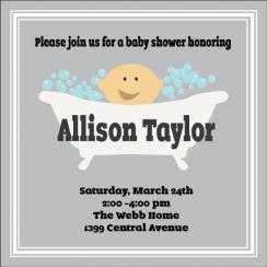 Baby Bath Baby Shower Invitations