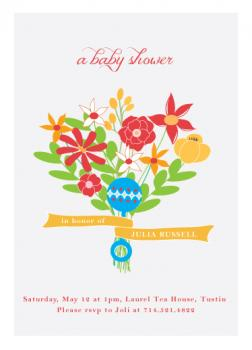Rattle Bouquet Baby Shower Invitations