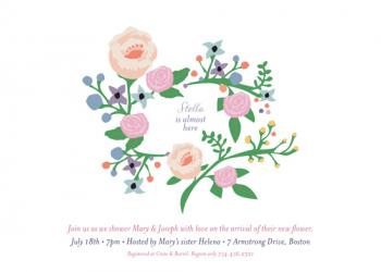 Blooming Love Baby Shower Invitations