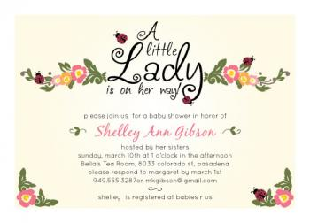 A Little Lady-Bug Baby Shower Invitations