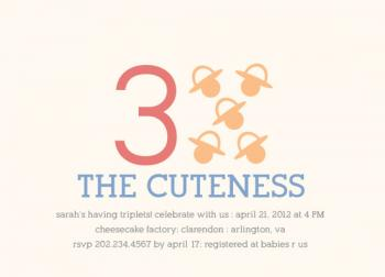 Times the Cuteness Baby Shower Invitations
