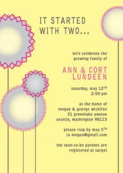 Baby Flowers Baby Shower Invitations