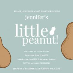 Little Peanut Baby Shower Invitations