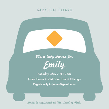 baby shower invitations - Baby on Board by Tracy Potter