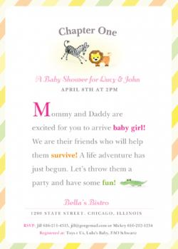 Chapter One Baby Shower Invitations