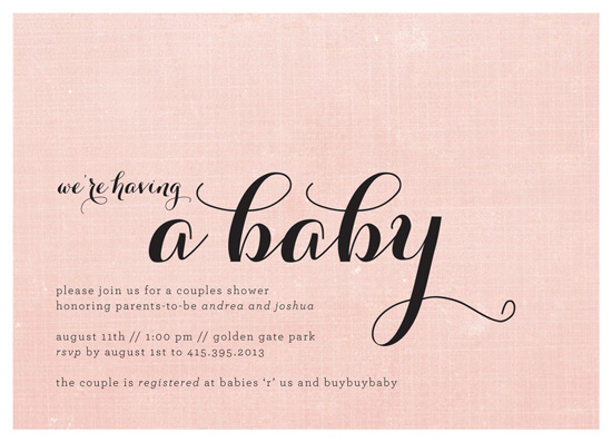 baby shower invitations - We're Having a Baby by roxy