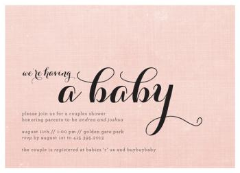 We're Having a Baby Baby Shower Invitations