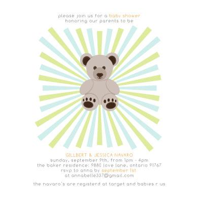 baby shower invitations - Dynamic Bear by Faye Femister
