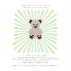 Dynamic Bear Baby Shower Invitations