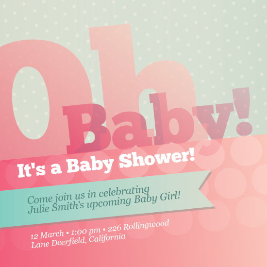 baby shower invitations - pretty pink girl by Ana Maria Villanueva
