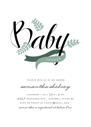 baby shower invitations - Windy Day by Moe and Me