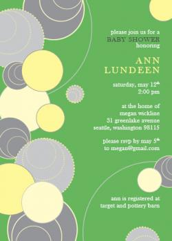 Baby Bubbles Baby Shower Invitations