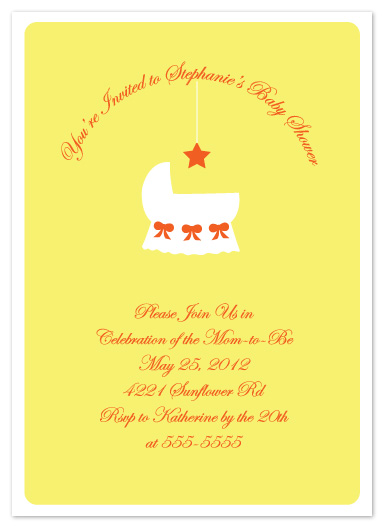 baby shower invitations - Bassinet Dreams by Denise Design