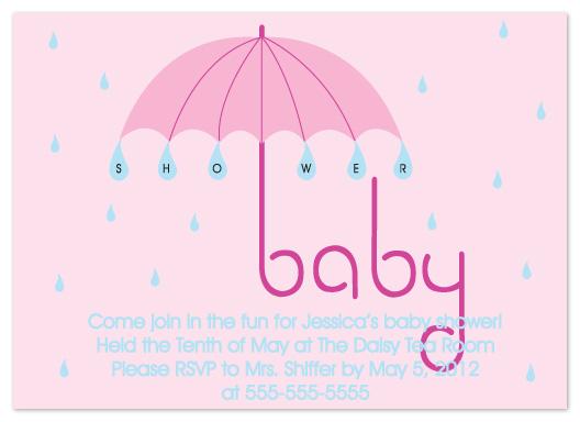 baby shower invitations - Shower Umbrella by Denise Design