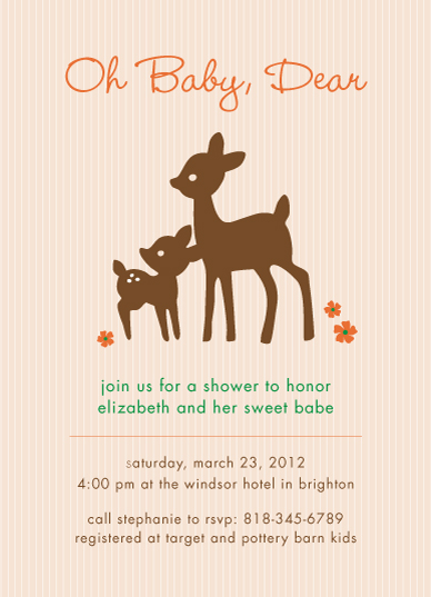 baby shower invitations - Oh Baby Dear by Lyndsay Johnson