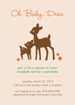 Oh Baby Dear Baby Shower Invitations