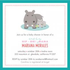 hip oh! mama Baby Shower Invitations