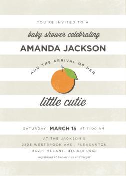 Little Cutie Baby Shower Invitations