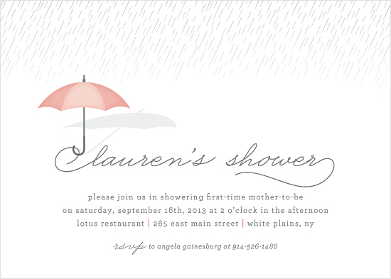 baby shower invitations - Drizzle by Hooray Creative
