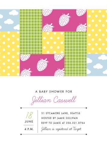 baby shower invitations - Quilted by Sarah Curry