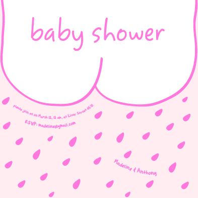 baby shower invitations bottom by gizem darendelioglu
