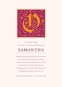 Happily Ever After Baby Shower Invitations