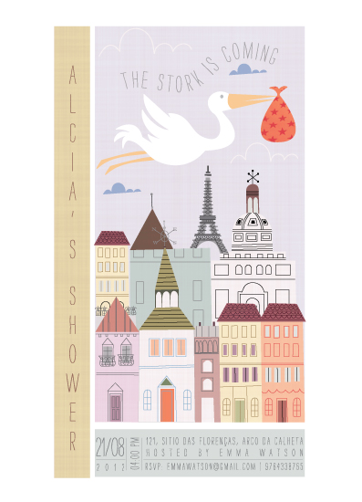 baby shower invitations - Babies are from Paris by Ana de Sousa