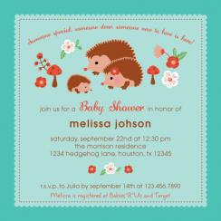 Folksy Critters Baby Shower Invitations