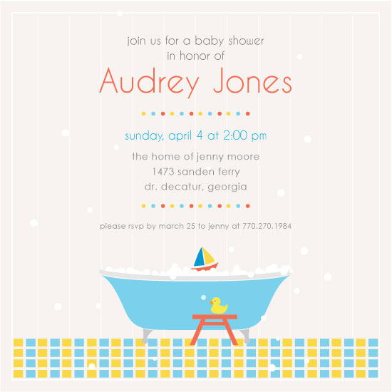 baby shower invitations - Soap bubbles by Thy Tran