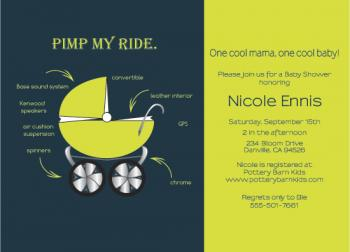 Pimp My Ride Baby Shower Invitations