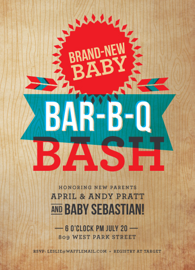baby shower invitations - Backyard Barbecue by Susie Allen