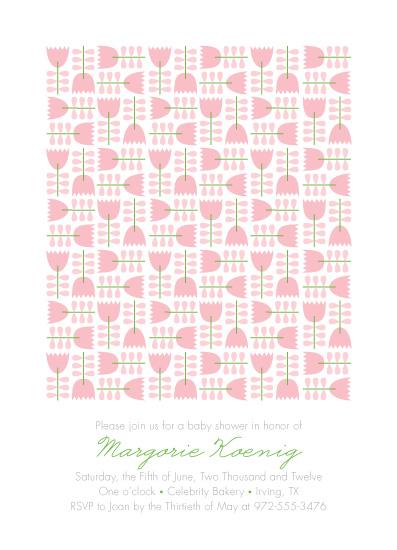 baby shower invitations - Flower Quilt by Ann Gardner