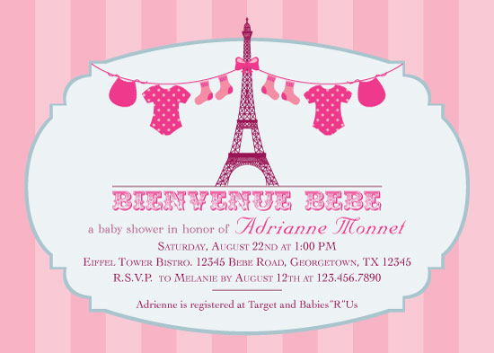 baby shower invitations - Baby French Affair by Marlene Leibowitz