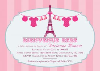 Baby French Affair Baby Shower Invitations