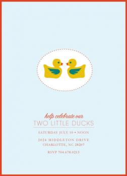 Two Little Ducks Baby Shower Invitations
