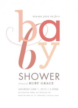 No Frills Baby Shower Invitations
