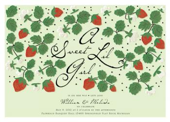 Strawberry Patch Baby Shower Invitations