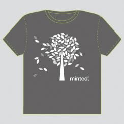 Wandering Leaves Minted T-Shirt Design