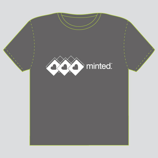 minted t-shirt design - Card, letters and hearts by MK