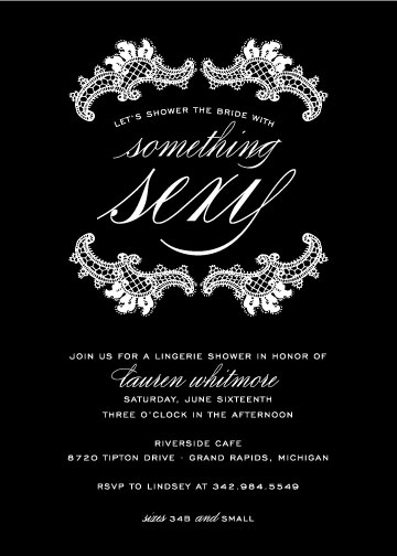 party invitations - Something Sexy by Sarah Brown