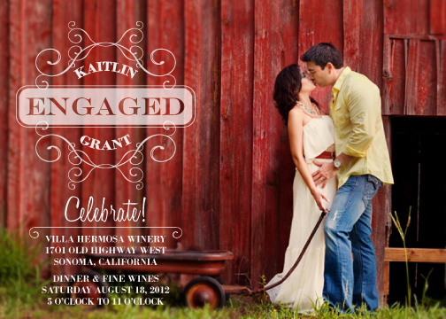 party invitations - Rustic Romance by Kirstin Nagy