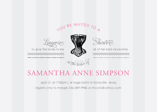 party invitations - Best Necessities by Sincerely Jackie