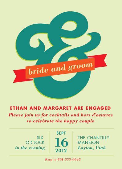 party invitations - Ampersand Engagement by Jessica Booth