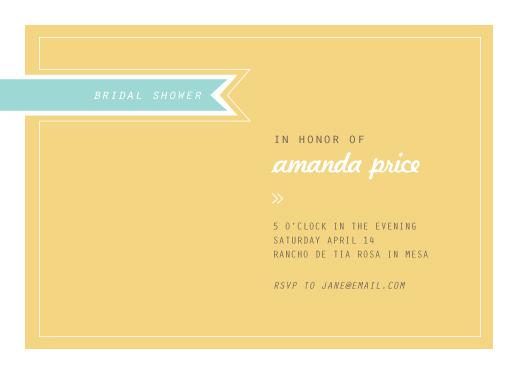 party invitations - Modern Ribbon by Lyndsay Johnson