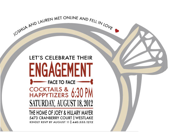 party invitations - They Met Online! by Wendy McClure